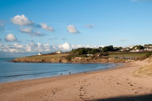 Daymer Bay beach near the Highcliffe Holidays grounds.