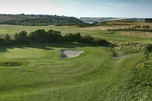 The green at The Point Golf Club in Cornwall.