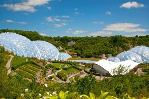 The Eden Project in St Austell, within driving distance of the Highcliffe grounds.