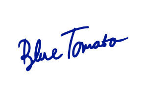 The logo for Blue Tomato.