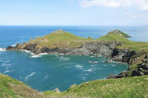 The rocky coastline around the Rumps in north Cornwall.