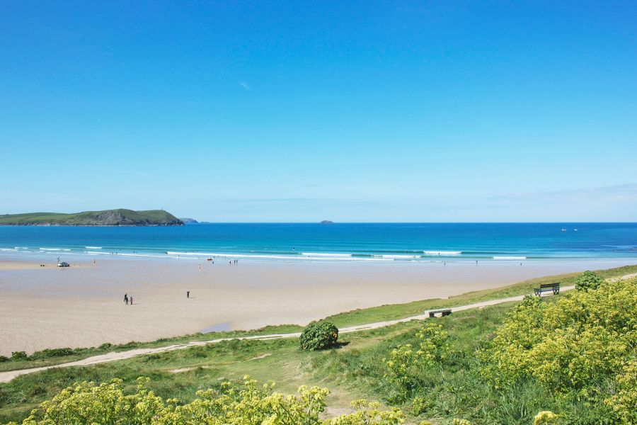 Stunning beach on the Cornish coast, a perfect holiday destination
